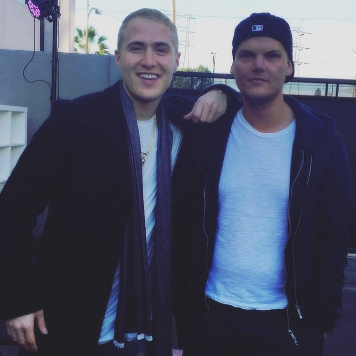 Mike Posner and Avicii at iHeartRadio - Universal Studios in Los Angeles, CA on February 3, 2016.