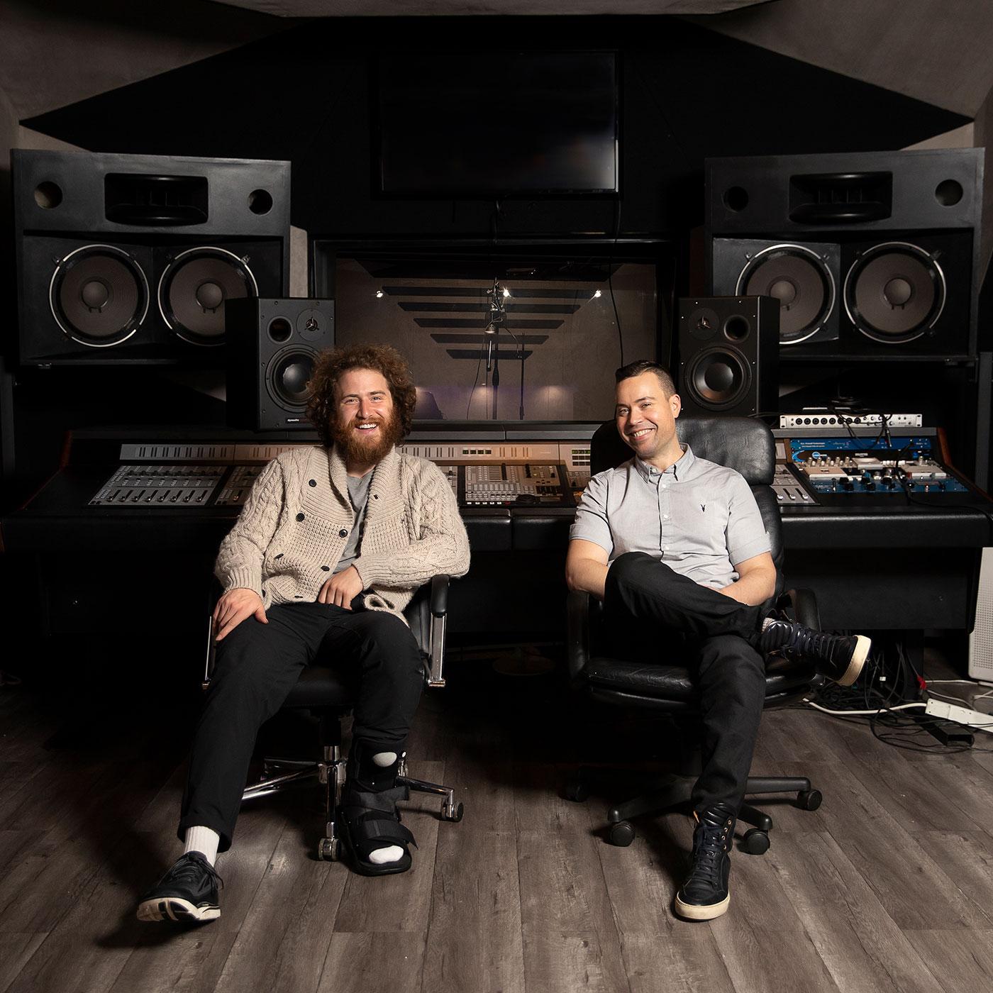 Mike Posner and Jordan Harbinger.  Photo credit: Ryan Hartford