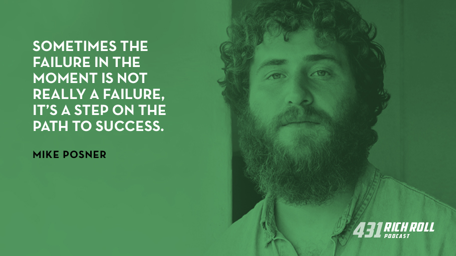 Sometimes the failure in the moment is not really a failure, it's a step on the path to success. - Mike Posner