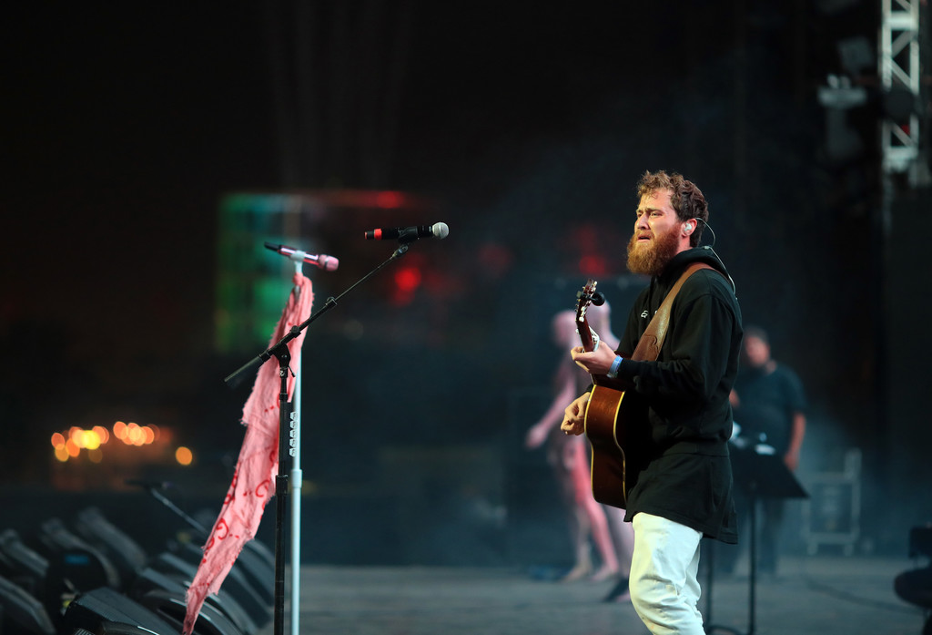 Mike Posner performing at the 2018 Coachella