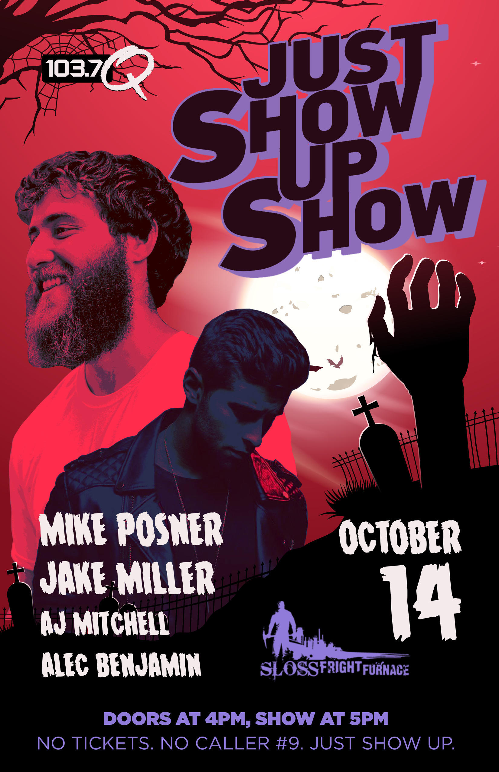 103.7 The Q - Just Show Up Show - October 14, 2018