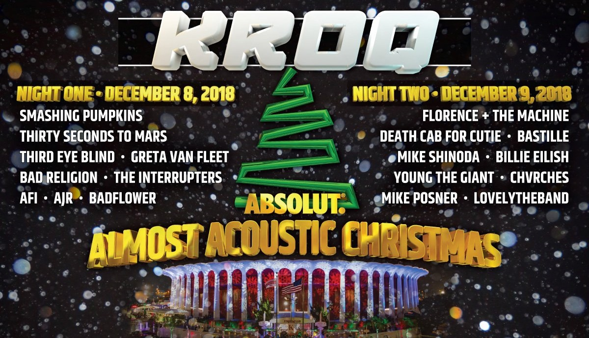 December 9   KROQ's Absolut Almost Acoustic Christmas 2018   The