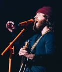 Mike Posner performing at the KROQ Absolut Almost Acoustic Christmas 2018