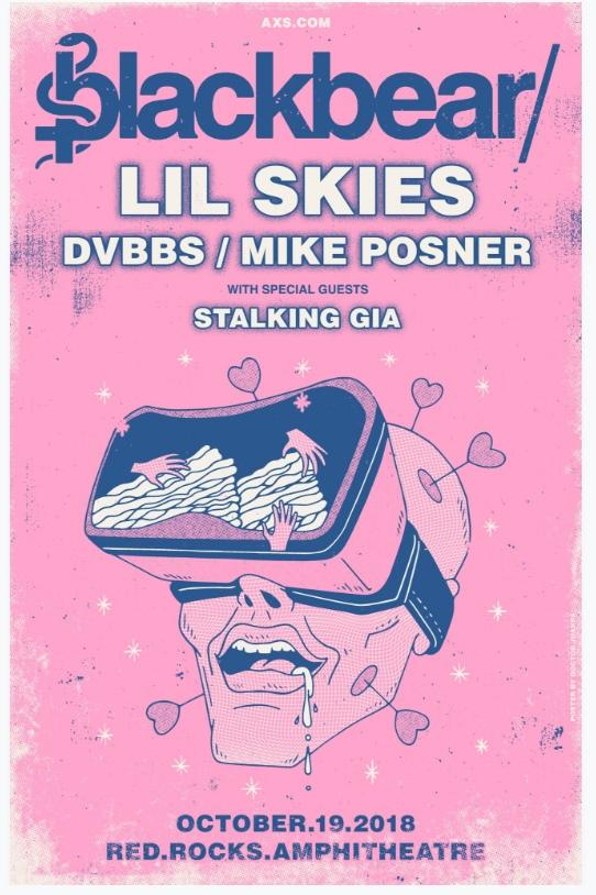 Blackbear, Mike Posner, Lil Skies, DVBBS, Stalking Gia - Red Rocks Amphitheatre - Morrison, CO - October 19, 2018