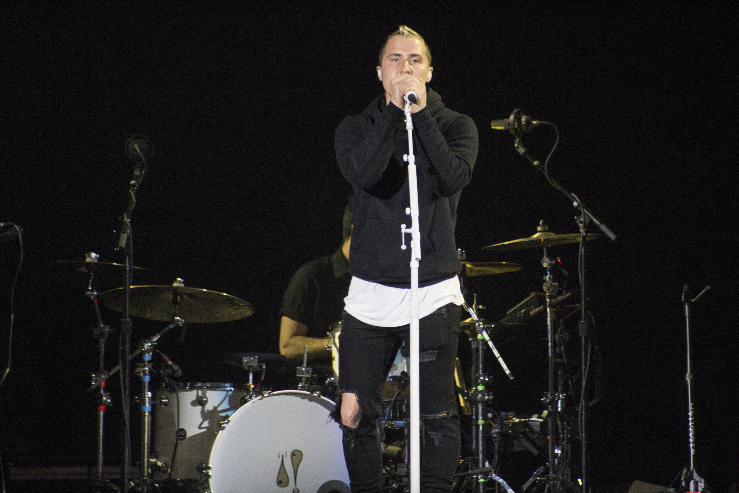 Mike Posner performing on the Future Now Tour in Chicago - August 2, 2016