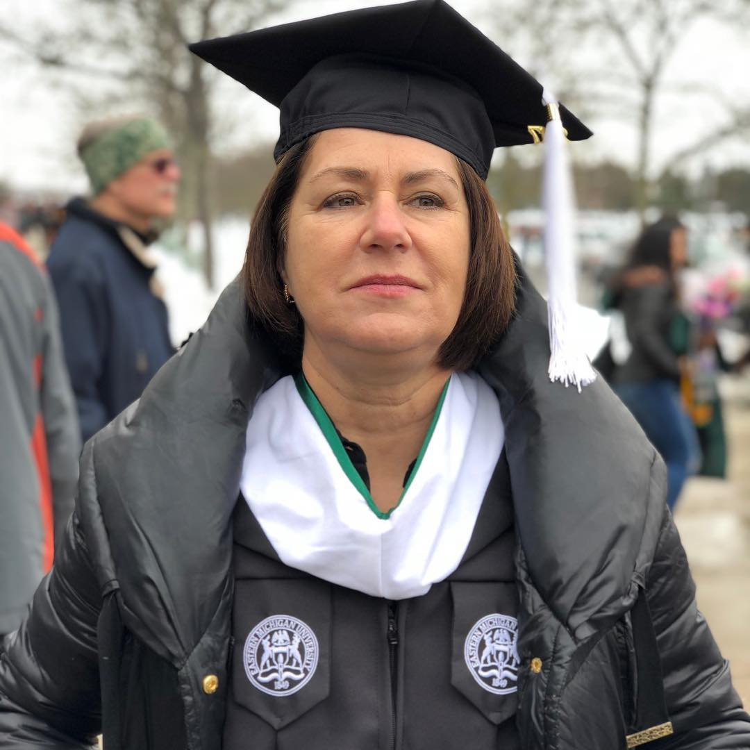 Mike Posner's Mom earns her Master's Degree from Eastern Michigan University - December 15, 2017