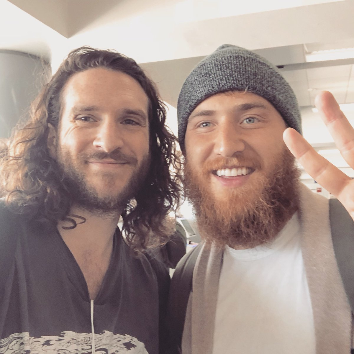 TMZ's Charlie Cotton and Mike Posner at LAX in Los Angeles, CA - April 26, 2018