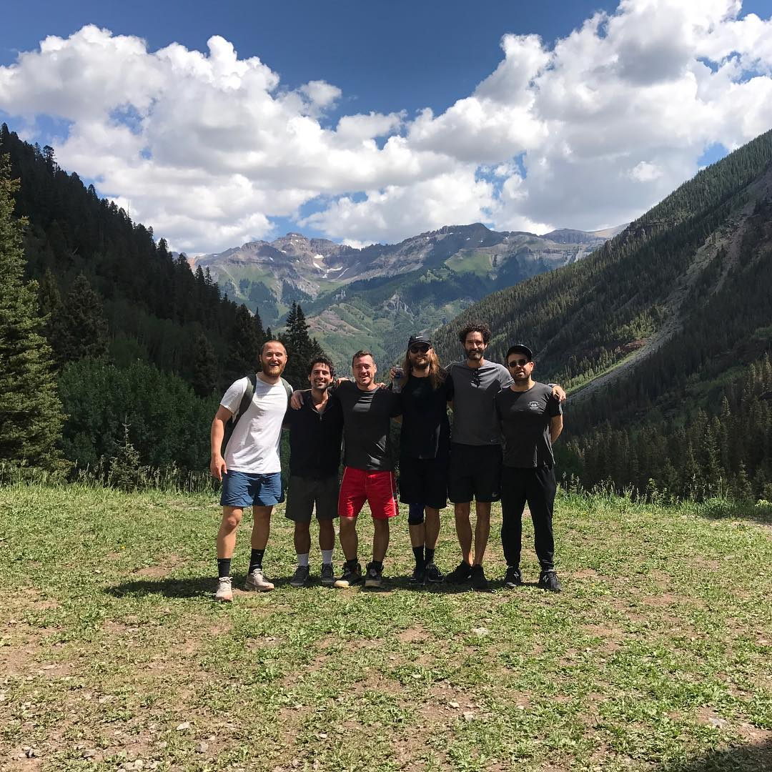 Mike Posner visiting Telluride, Colorado with friends in July 2017