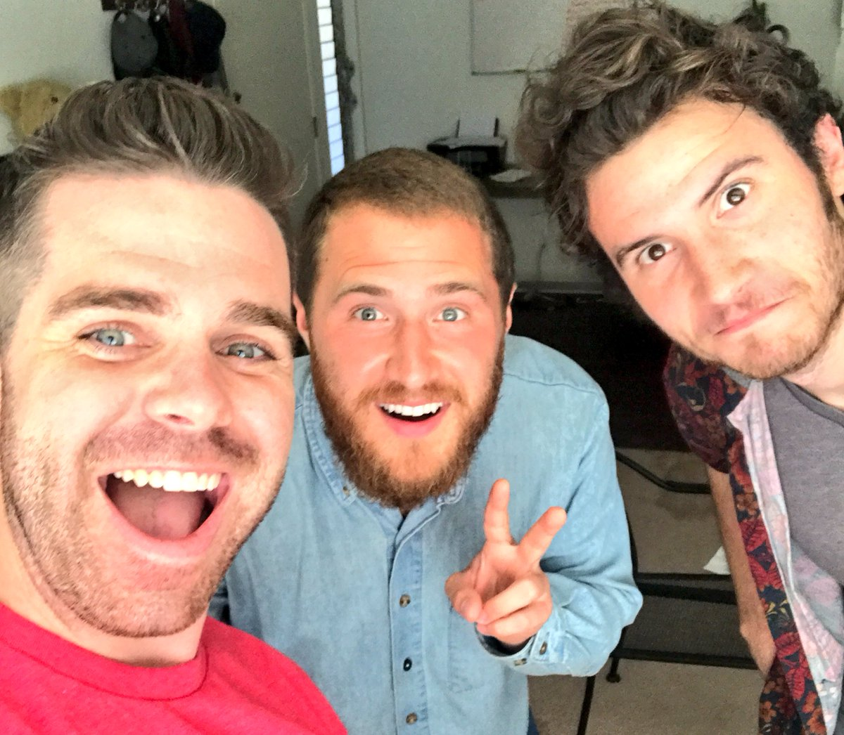 Mike Posner with comedians Ry Doon and Brandon Calvillo - October 18, 2017
