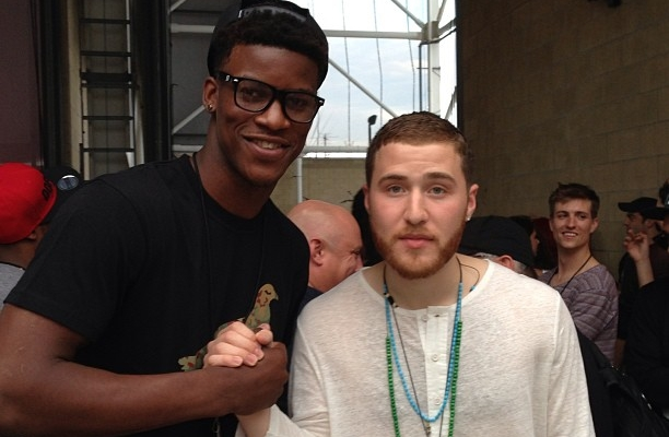 PHOTO: Mike Posner and Jimmy Butler of the Chicago Bulls