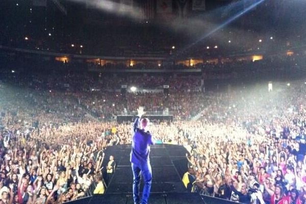 Mike Posner on the Believe Tour at Nationwide Arena in Columbus – July 12