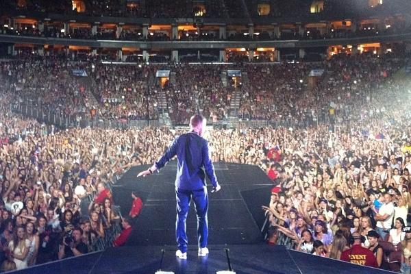 Mike Posner at Joe Louis Arena in Detroit – Believe Tour