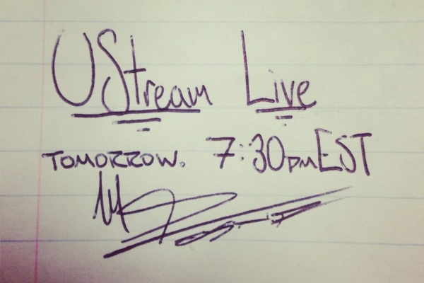 Mike Posner: Ustream Live Tomorrow 7:30PM EST