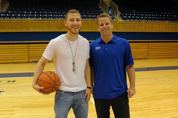 Mike Posner Visits Cameron Indoor Stadium of Duke University