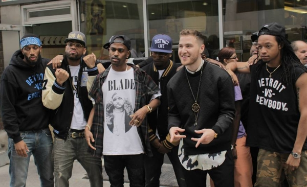 "Mike Posner and Big Sean On the Set of ""Top of the World"" Music Video"