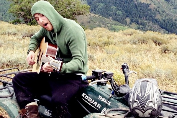 Mike Posner Sings and Plays Guitar in the Utah Mountains