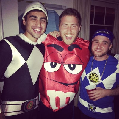 Mike Posner Wears Red M&M Costume for Halloween