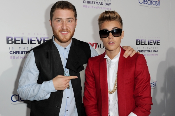 Mike Posner Attends Justin Bieber's 'Believe' Movie Premiere
