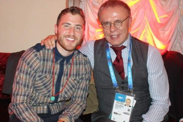 Mike Posner Got to Hang Out with Detroit Red Wings Greats in Sochi