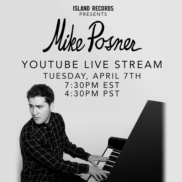 Mike Posner - YouTube Live Stream #PosnerLive 2015
