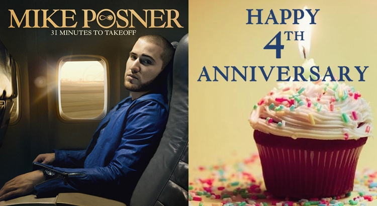 Mike Posner's Debut Album '31 Minutes To Takeoff' 4 Year Anniversary