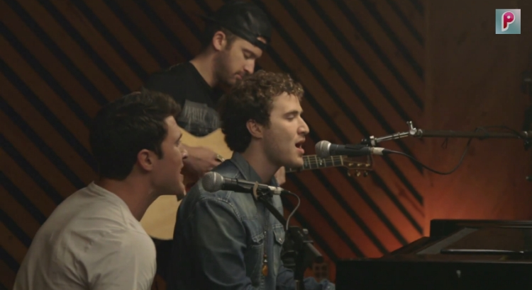 Mike Posner & Timeflies in The Collaboration Room