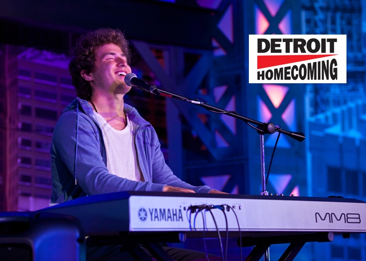 "Mike Posner Sings ""Buried In Detroit"" at Detroit Homecoming"