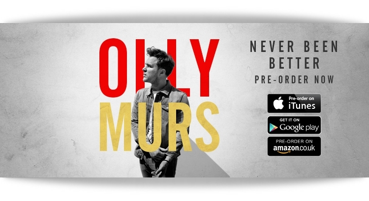 Mike Posner Co-Wrote on Olly Murs 'Never Been Better' Album