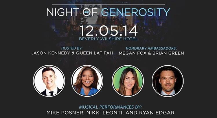 Mike Posner to Perform at The 6th Annual Night Of Generosity 2014