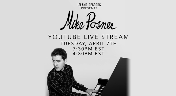 Watch Mike Posner Live on YouTube Tonight #PosnerLive