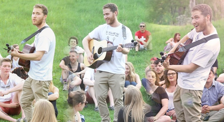 Mike Posner at the Nichols Arboretum in Ann Arbor, MI