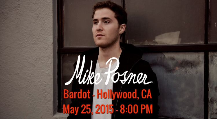 Mike Posner to Perform at Bardot in Hollywood