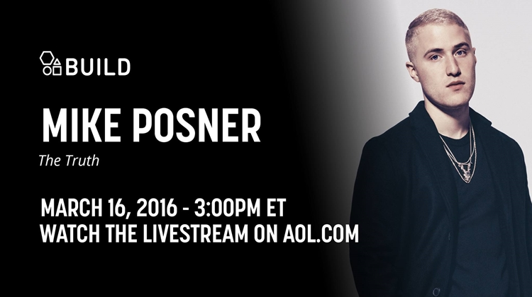 Mike Posner on 'AOL Build Series' – March 16