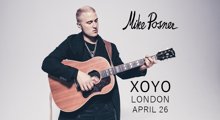 Mike Posner to Perform at XOYO in London - April 26