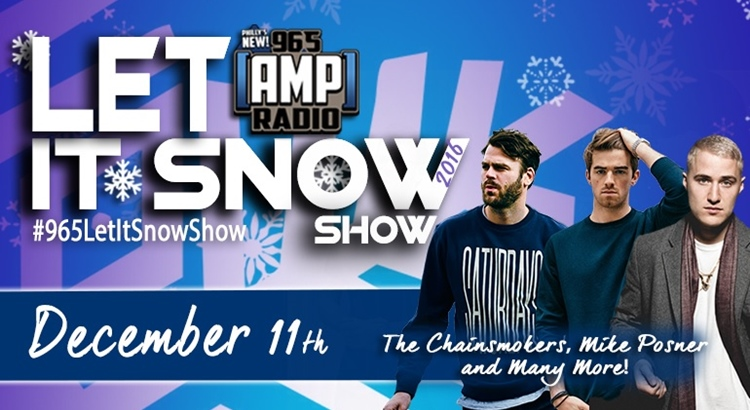 Mike Posner to Perform at 96.5 AMP Radio's Let It Snow Show - December 11