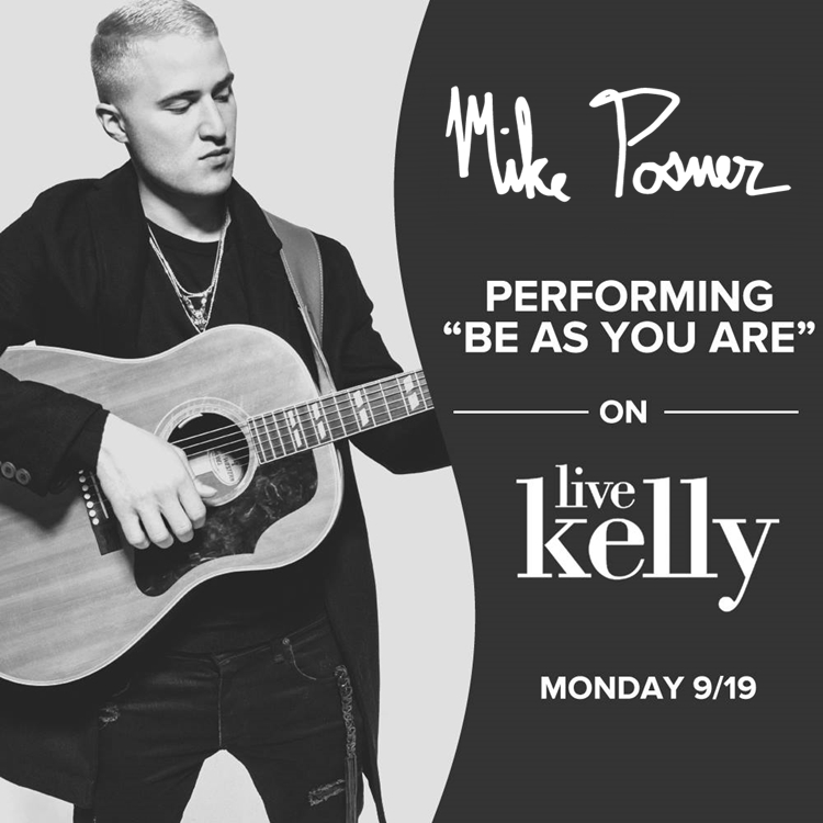 Mike Posner Performs on LIVE with Kelly - September 19