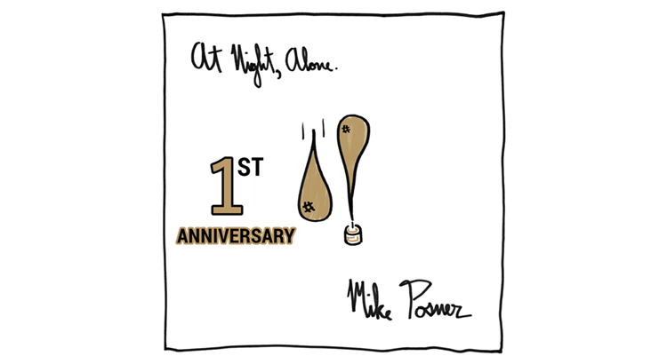 Mike Posner's 'At Night, Alone.' 1 Year Anniversary