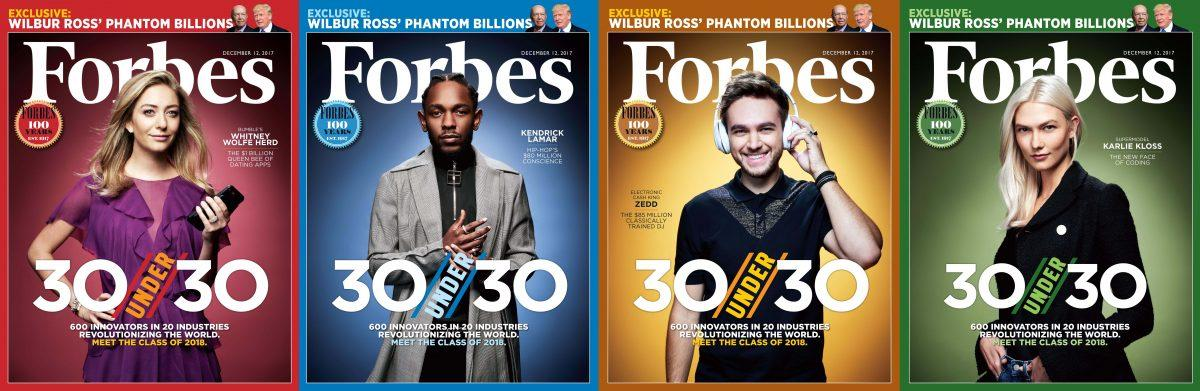 Forbes 30 Under 30 Magazine Covers