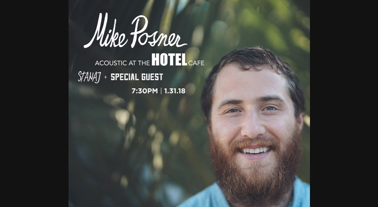 Mike Posner Announces Acoustic Show at The Hotel Café – January 31