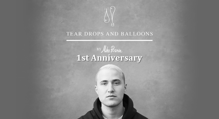 Mike Posner 'Tear Drops and Balloons' (Poetry Book) 1 Year Anniversary