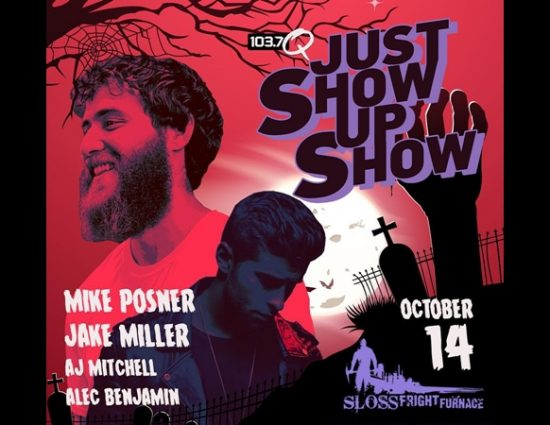 Mike Posner to Perform at 103.7 The Q's 'Just Show Up Show' at Sloss Fright Furnace