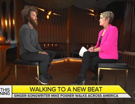 Mike Posner Talks with CBS News About His Walk Across America